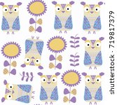 owls abstract nature animals... | Shutterstock .eps vector #719817379
