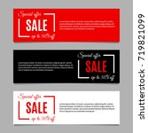 sale banners set with special... | Shutterstock . vector #719821099