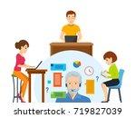 modern technology and... | Shutterstock . vector #719827039