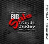 black friday sale background ... | Shutterstock .eps vector #719827819