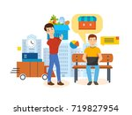 full product acquisition cycle  ... | Shutterstock . vector #719827954