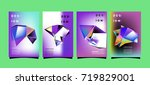 abstract colorful geometric... | Shutterstock .eps vector #719829001