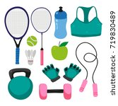 sport tool collection design | Shutterstock .eps vector #719830489