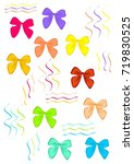 ribbons and bows | Shutterstock .eps vector #719830525