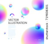 colorful circle of gradual... | Shutterstock .eps vector #719838301