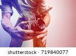 fashion photographer with old... | Shutterstock . vector #719840077
