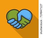 handshake logo design template | Shutterstock .eps vector #719847127