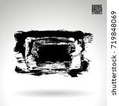 black brush stroke and texture. ... | Shutterstock .eps vector #719848069
