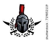 wreath  swords and helmet of... | Shutterstock .eps vector #719852119
