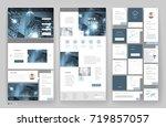 website template design with... | Shutterstock .eps vector #719857057