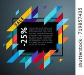 vector modern bright frame for... | Shutterstock .eps vector #719857435