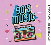 best of 90s illustration with... | Shutterstock .eps vector #719860675