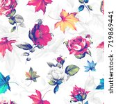 seamless background pattern.... | Shutterstock .eps vector #719869441