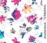 seamless background pattern.... | Shutterstock .eps vector #719869441