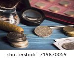 Small photo of numismatics, collect old coins