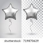 star silver balloon on... | Shutterstock .eps vector #719870629