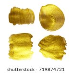 gold watercolor texture paint... | Shutterstock . vector #719874721