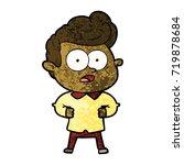 cartoon staring man | Shutterstock .eps vector #719878684