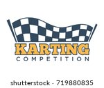 karting club or kart races... | Shutterstock .eps vector #719880835
