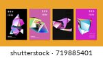 abstract colorful geometric... | Shutterstock .eps vector #719885401