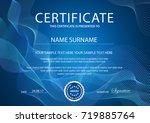 certificate vector template... | Shutterstock .eps vector #719885764