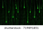 abstract matrix background... | Shutterstock . vector #719891851