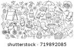 autumn. set of doodle. sketch... | Shutterstock .eps vector #719892085