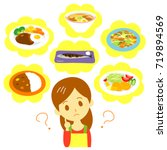 meal planning woman | Shutterstock .eps vector #719894569