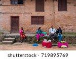 bakhtapur  kathamandu  nepal  ... | Shutterstock . vector #719895769