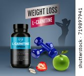 l carnitine ads. vector... | Shutterstock .eps vector #719897941