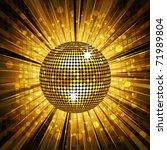 Sparkling Gold Disco Ball On...