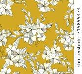 vector flowers pattern on... | Shutterstock .eps vector #719899474