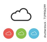 cloud outline vector icon