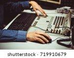 professional audio mixing... | Shutterstock . vector #719910679