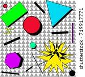 geometric splash | Shutterstock .eps vector #719917771