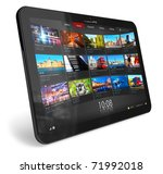 tablet pc | Shutterstock . vector #71992018