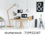White Minimalist Studio With...