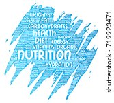 vector conceptual nutrition... | Shutterstock .eps vector #719923471