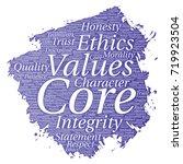 vector conceptual core values... | Shutterstock .eps vector #719923504