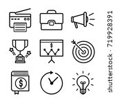 business icon set | Shutterstock .eps vector #719928391