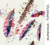 elegant design with colorful... | Shutterstock .eps vector #719934721