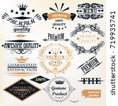collection of vintage vector... | Shutterstock .eps vector #719935741