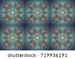 winter christmas snow flat... | Shutterstock . vector #719936191