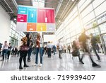 anonymous blurred business...   Shutterstock . vector #719939407