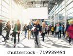 blurred business people at a... | Shutterstock . vector #719939491