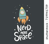 need more space lettering.... | Shutterstock .eps vector #719941759