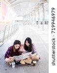 asian beautiful woman travel... | Shutterstock . vector #719946979