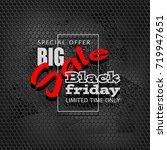 black friday sale background ... | Shutterstock . vector #719947651