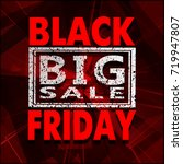 black friday sale background ... | Shutterstock . vector #719947807