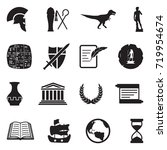 history icons. black flat... | Shutterstock .eps vector #719954674